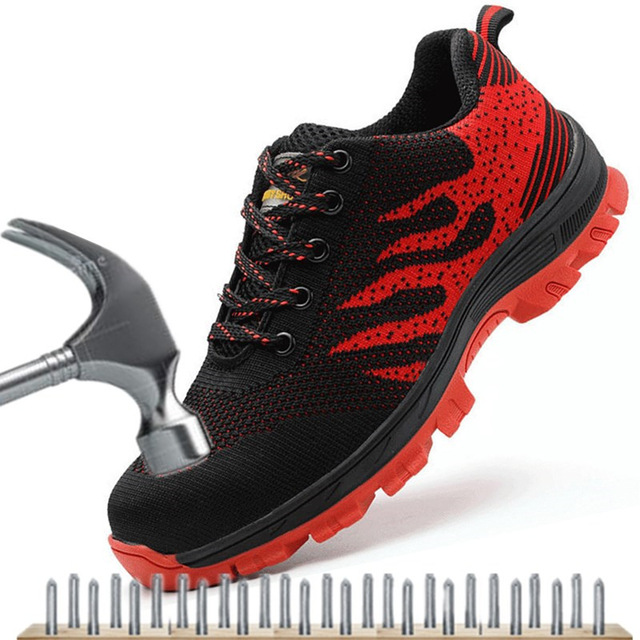 Steel Toe Safety Work Shoes Work Boots Lightweight Work Safety Boots Anti-smashing Army Boots Men Sneakers Indestructible Shoes