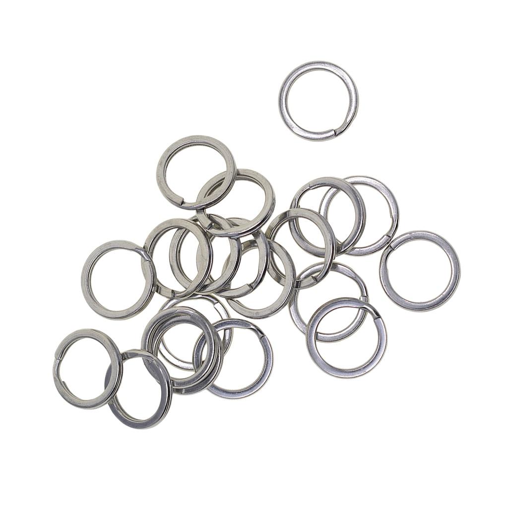 100pcs 15mm 20mm Iron Split Platinum Key Rings Chain  Home Car Keys Organization