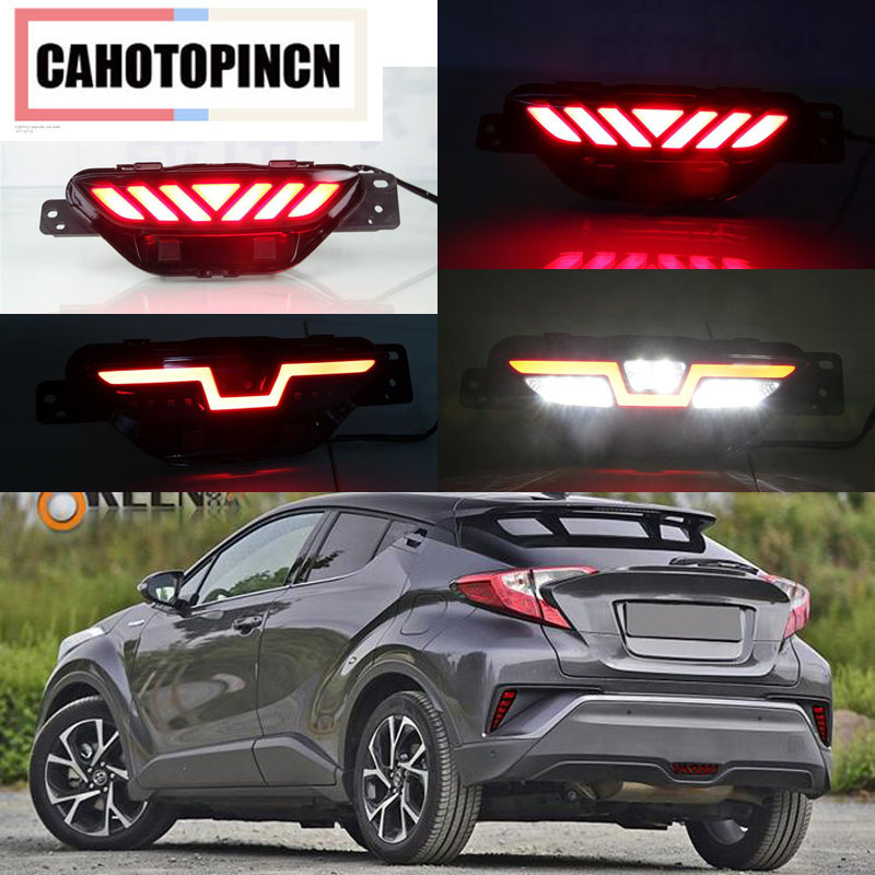 Led rear bumper light For Toyota CHR 2017 2018 rear fog lamp driving lamp brake light