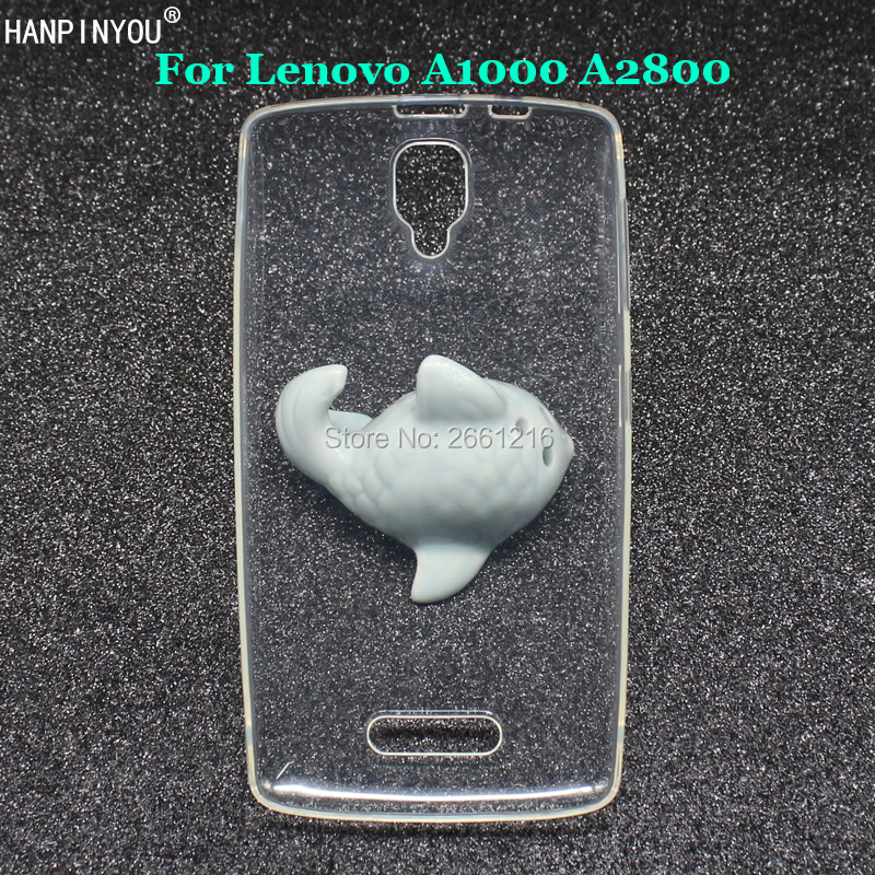 """For Lenovo A1000 A2800 A 1000 2800 4.0"""" New Ultra Thin Soft TPU Silicon Gel Transparent Case Back Cover"""