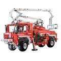 Техника Exploiture пожарная машина грузовик строительные блоки Decool 3323 компл. модель образования DIY кирпича игрушки для детей