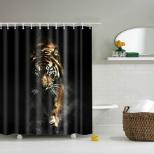 3D Tiger shower curtain rideau de douche 3d cortina en tissu decorative charmhome bathroom curtain