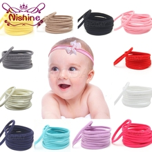 Nishine 12pcs/lot Nylon Headband for Baby Girl DIY Hair Accessories Elastic Head Band Kids Children Fashion Headwear