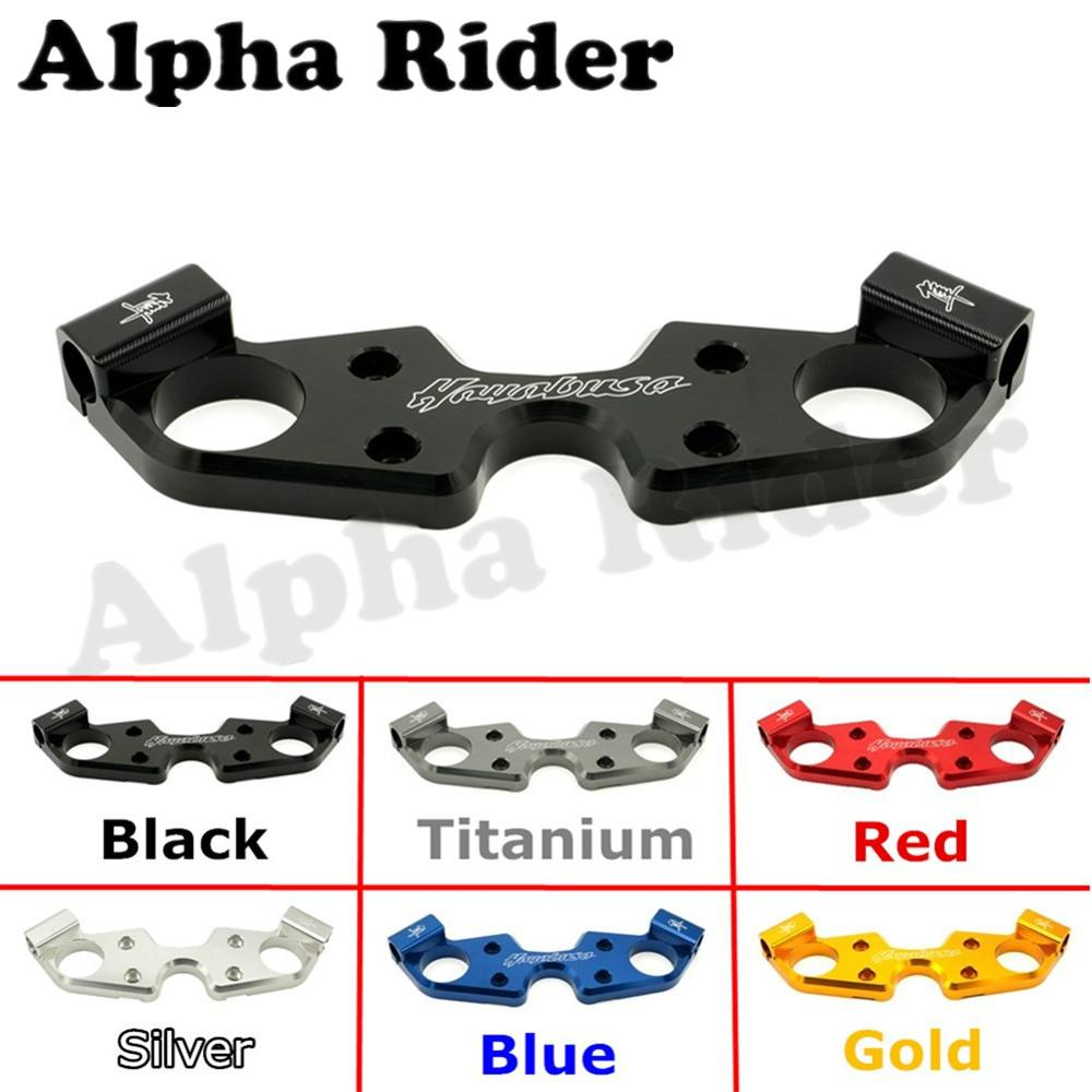 Motorcycle Lowering Lower Triple Tree Front End Upper Top Clamp for 2008-2015 2016 Suzuki HAYABUSA GSX1300R GSXR1300 GSXR 1300