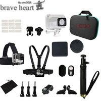 XIAOMI YI 4k Action Camera Accessories Bluetooth Remote Control Monopod Tripod Camera Bag Waterproof Case For