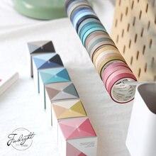 1 Набор 4 вида цветов декоративного скотча Васи 9 мм * 3 м клейкие