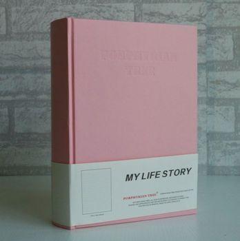 Skura розовая плотная дневник в твердом переплете 26,5*19*6,5 см 240 листов девушка жизнь, подарок, бесплатная доставка