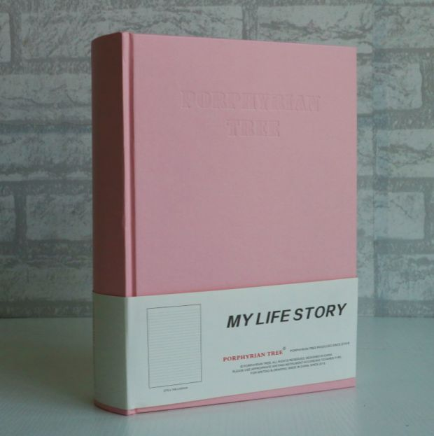 Skura Pink Hardcover Thick Diary Book 26.5*19*6.5CM 240 Sheets Girl Life  Gift Free Shipping