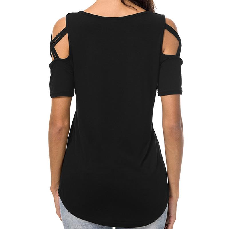 2019 New Fashion Dog Mom Print Tshirt Casual Short Sleeve Plus Size T-Shirt Female Cotton Cute Tops for Woman 4