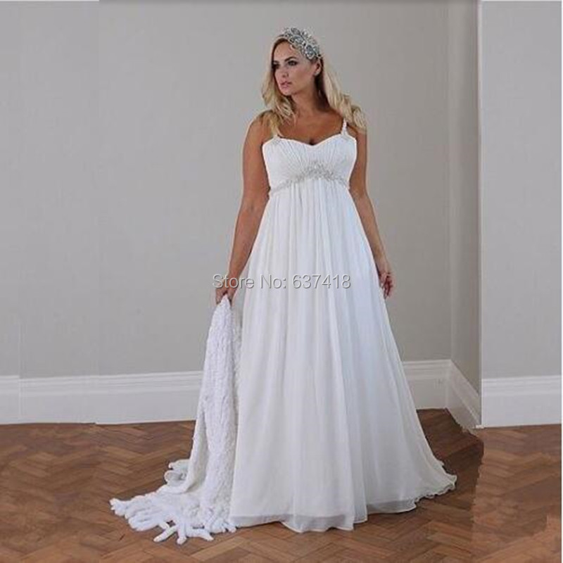Popular plus size wedding dresses under 100 buy cheap plus Inexpensive beach wedding dresses
