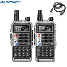 2Pcs BaoFeng UV-S9 Потужна Walkie Talkie CB Радіоприймач 8W 10км Довгий Діапазон Портативний Радіус для лісу та міста + USB-кабель