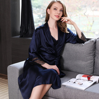 19 Муми тяжелые натуральная шелковые халаты женские тонкие халат новый 100% шелк пижамы Для женщин пикантные элегантные спальный халат кимоно
