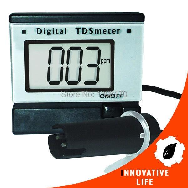 ФОТО Digital 0~1999 PPm (mg/L) Range Total Dissolve Solids Measurement Tester Aquarium Water TDS Meter with Power Adaptor