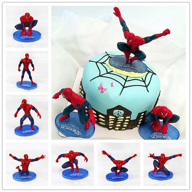 Spinne Held Szenen Geburtstagstorte Dekoration Puppe Modell 7 Partei