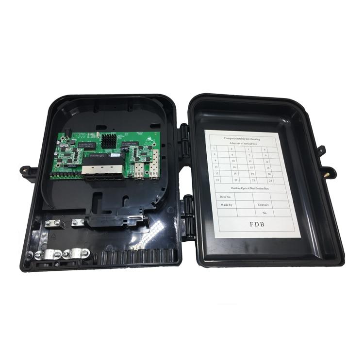 8 porte 10/100/1000 M IEEE802.3 af/at POE Switch Con 2 Gigabit SFP Moduli8 porte 10/100/1000 M IEEE802.3 af/at POE Switch Con 2 Gigabit SFP Moduli