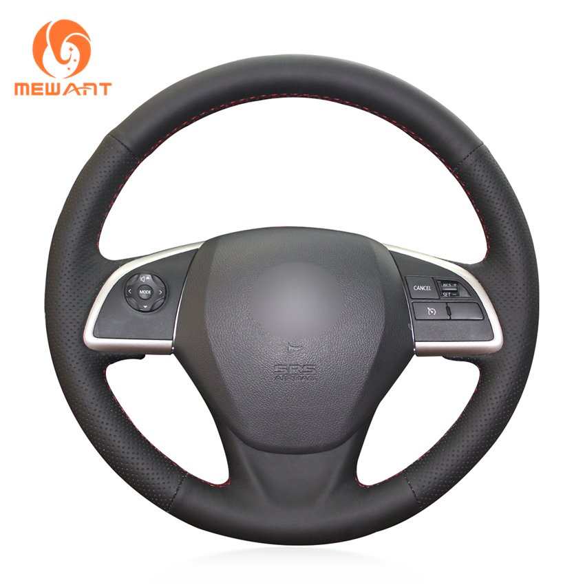MEWANT Black Genuine Leather Car Steering Wheel Cover for Mitsubishi Outlander 2013 2014 Mirage 2014 ASX L200 2015 2016 car styling interior speaker audio ring cover decoration trim for mitsubishi asx outlander sport us 2013 2014 2015 2016 page 8