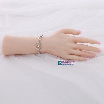 Droit Femelle Doux De Silicium Flexible Mannequin Main Pour Anneau Bracelet Et Gant Affichage