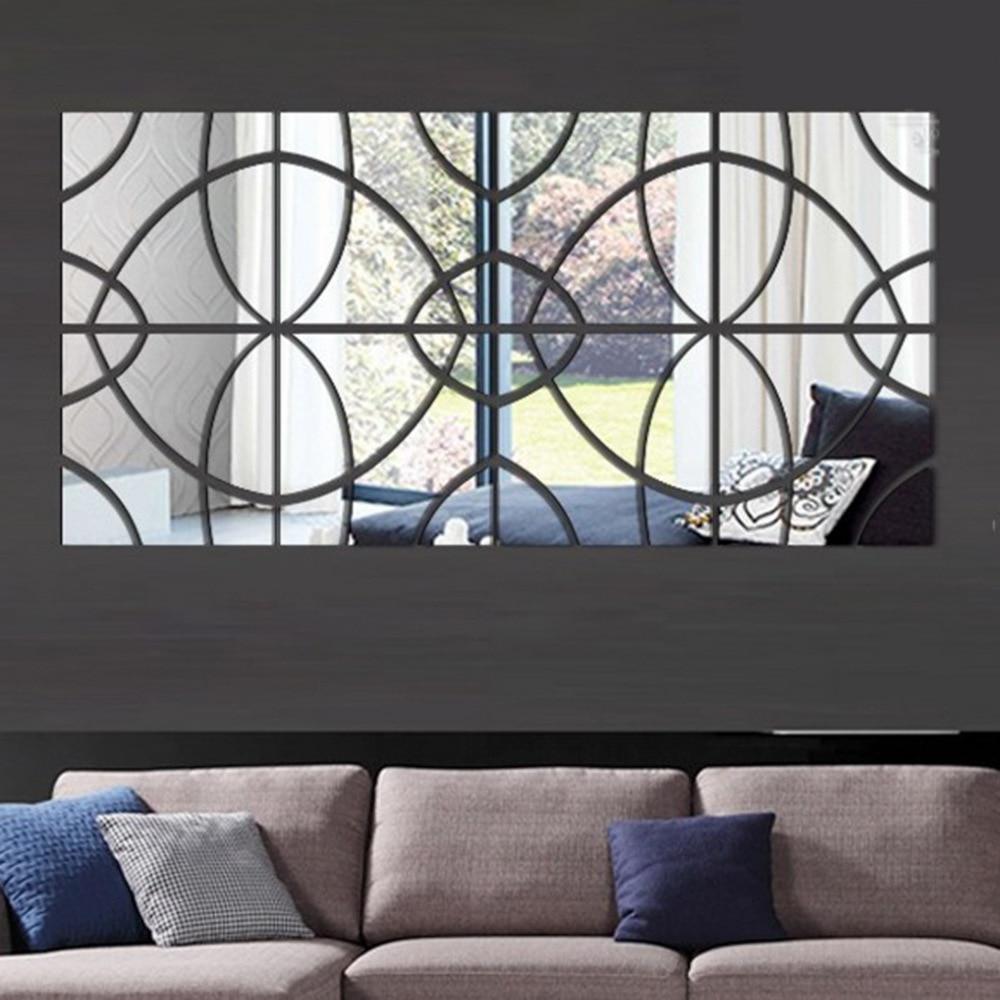 Avropanın məşhur 3 d DIY akril güzgü divarı müasir ev oturma - Ev dekoru - Fotoqrafiya 4