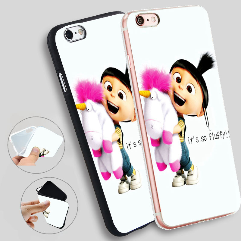 Minason Despicable Me Agnes It S So Fluffy Capa Soft Silicone Case for iPhone X 5 S 5S 6 6S 7 8 Plus Cover Phone Fundas Capinha