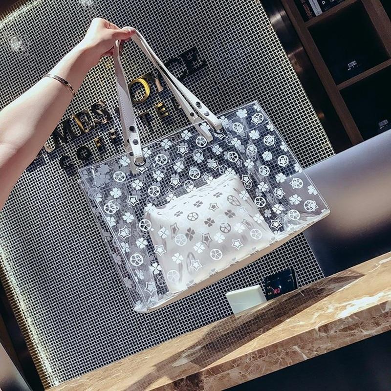 2018 New Summer Fashions, Plastic Handbags, Single Shoulder Bags, Summer Jelly Big Bags