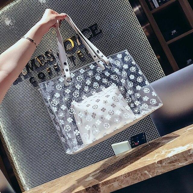 2018 novas modas de verão, bolsas de plástico, bolsa de ombro único, sacos de geléia verão big bags