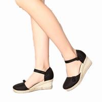 2017 Summer Wedges Women Sandals Close Toe Platform Heel Sandals Woman Casual Comfortable Flats Women S