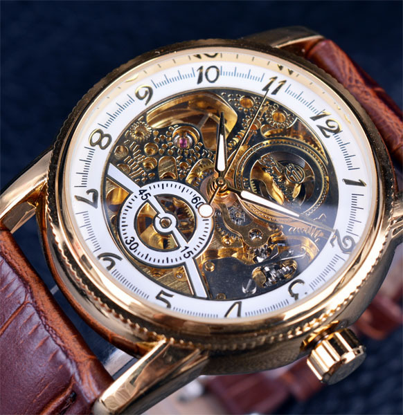 Mechanical Chronograph Watch Men's Fashion Leisure Hollowed-out Automatic Mechanical Watch High-end Watch seasonal 3152323 hollowed out pocket watch