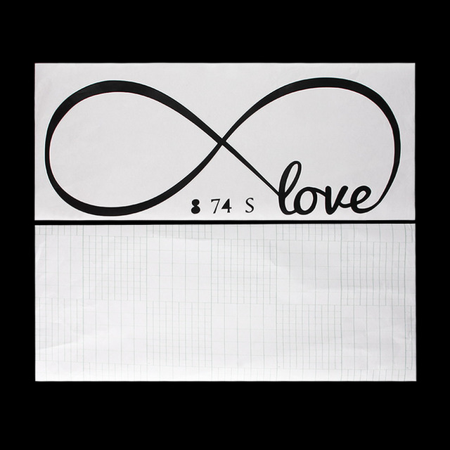 Personalized Infinity Symbol Love Bedroom Wall Stickers Home Decal