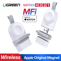 Ugreen Wireless Charger For Apple Watch 4 Charger Portable USB Charger Series 4 3 2 1 MFi Certified Original Wireless Charging