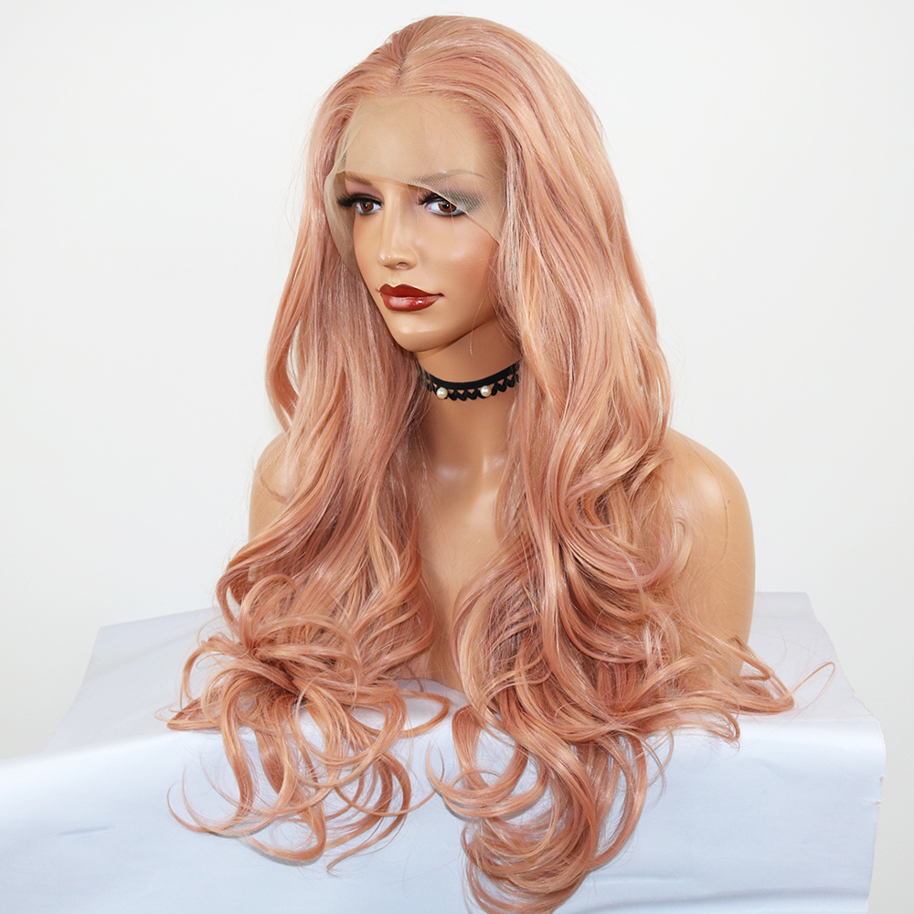 pink wigs lace front