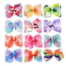 LNRRABC Child girl colorful Big Bowknot Hairpin Kids Popular Sweet Gradient colour Hair Clip Pearl Hollow Heart Hair Accessories