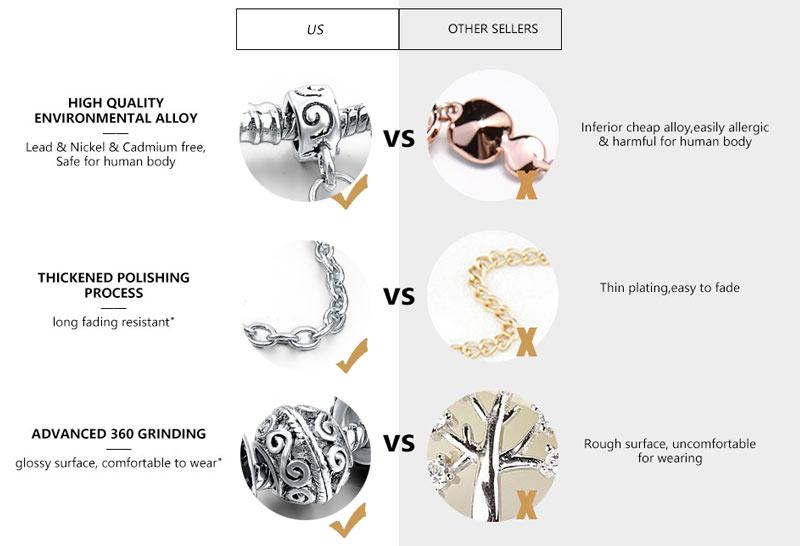 CHICVIE Black Crystal Chain Link Bracelets For Women Female Charm Custom Bracelets & Bangles DIY Silver Color Jewelry SBR160014 13