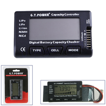 1pcs G.T.Power 2-7S Digital Battery Capacity Checker Controller Tester for LiPo Li-ion NiMH Nicd Voltage Balance View(China)