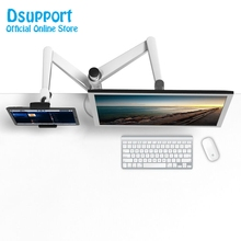 OA-8Z Height Adjustable Double Arm 27 inch Monitor Holder+ Tablet PC Stands 360 Degree Rotatable computer desks
