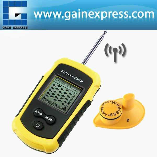 Portable Dot Matrix Wireless Sonar Sensor LUCKY Fish Finder Alarm Transducer & Audible Fish Alarm Depth Sounder 40m (131ft) optional extra wireless sonar sensor for fish finder items