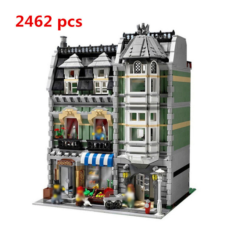 Sale Lepin Technic 15008 2462Pcs City Street Green Grocer Model Building Kits Blocks Bricks Compatible Toy Children 10185 Palace lepin 15008 new city street green grocer model building blocks bricks toy for child boy gift compatitive funny kit 10185 2462pcs