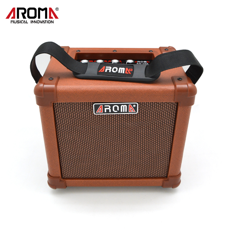AROMA 10W Brown Amplifier Speaker Box AG-10A Handy Portable Acoustic Guitar AMP Sound ароматизатор aroma wind 002 a