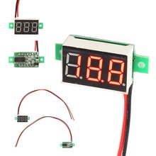 DC 4.5~30V No power supply needed Mini Red LED Panel Voltage Meter 3-Digital Adjustment Voltmeter Electrical Instruments(China (Mainland))