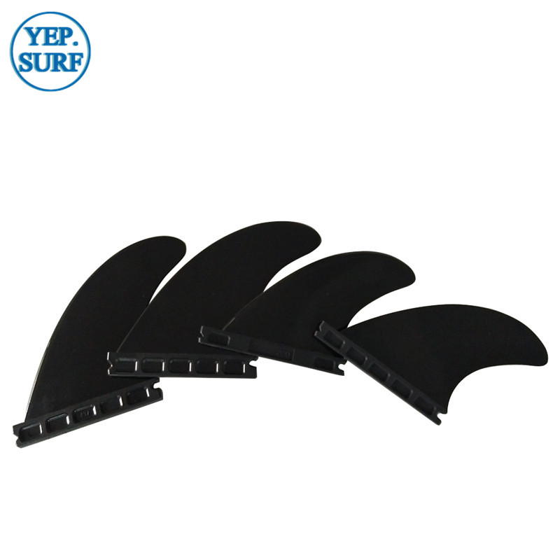 Hight Quality Fins Plastic Future Surf Fins G5+GX Light Green/Black Color Fin 4pcs