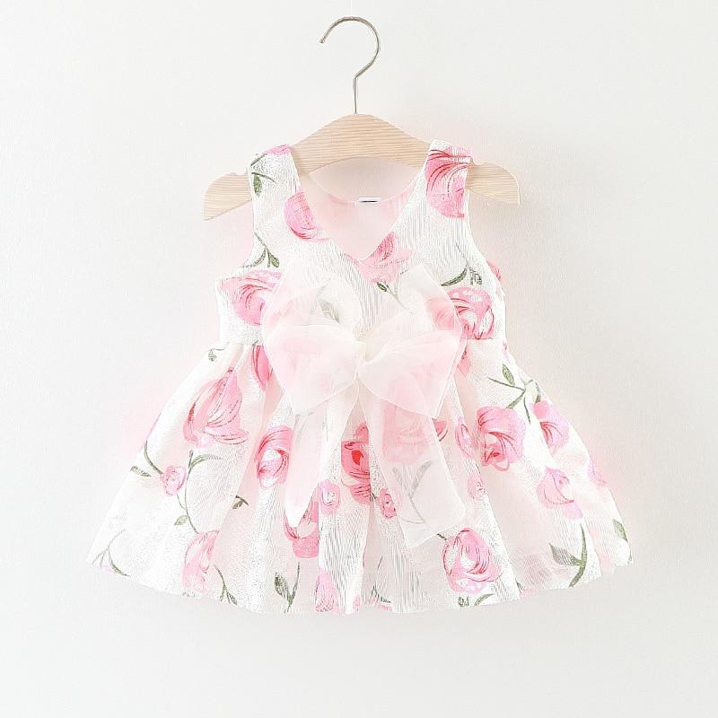 Girls Dress Summer 2017 for Baby Dress Flower Wedding Toddler Girl Summer Clothes Party Princess Dress Rose Kids Dresses for Gir