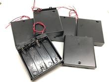 купить MasterFire 400pcs/lot 6V 4 X AA Battery Holder Case Slot Holder Plastic Storage Box With OFF/ON Switch Wires For RC Parts по цене 26293.64 рублей