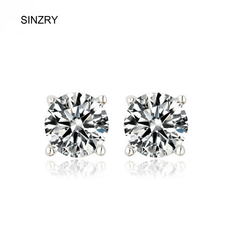 Hotsale AAA cubic zircon single CZ sparkling classic design stud earrings fashion lady jewelery wholesale
