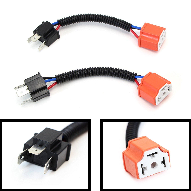 2pcs H4 9003 Heavy Duty Ceramic Wiring Harness Sockets For ...