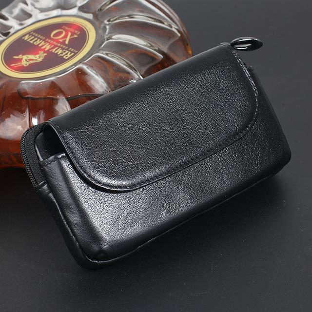 Genuíno real de couro horizontal belt holster phone pouch case para xiaomi redmi note 3 pro 3 s carteira de telefone celular bag capa flip