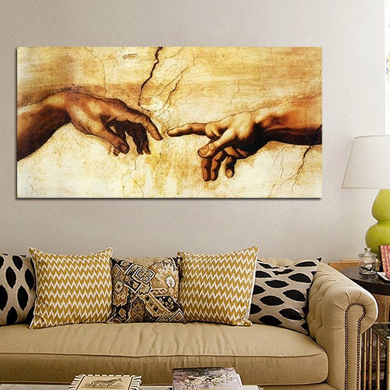 Krijimi i Adamit nga Pambuku i Pandriçuar Nga Michelangelo - Dekor në shtëpi - Foto 2