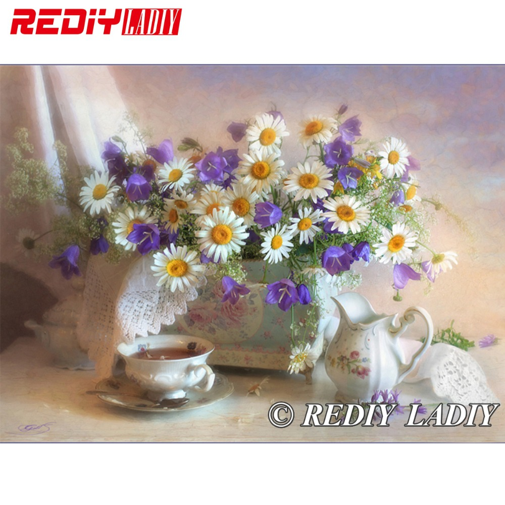 29.5cm X 40cm 3D Accurate Printed Crystal Beads Embroidery Kit Flower Beadwork Crafts Needlework Diy Beads Cross Stitch APT521