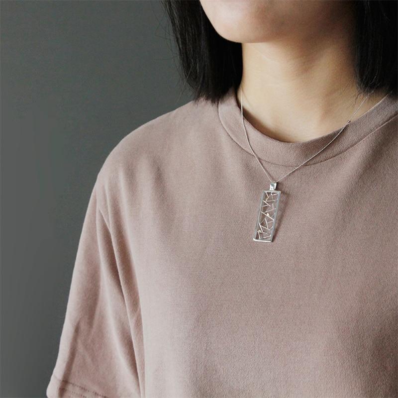 Image 4 - Lotus Fun réel 925 en argent Sterling bijoux faits à la main élément Oriental fenêtre décoration papier découpé Design pendentif sans collierPendentifs   -