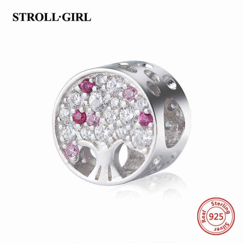 New arrival the tree of life charms with Cubic Zircon 925 silver beads fit authentic Pandora bracelet diy fashion jewelry gift