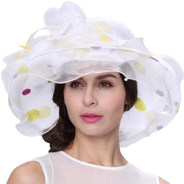 Envío venta caliente moda de nueva elegante del Organza Organza sombrero mantón de la boda del sombrero vestido de verano elegante mujeres vestido de boda de la flor
