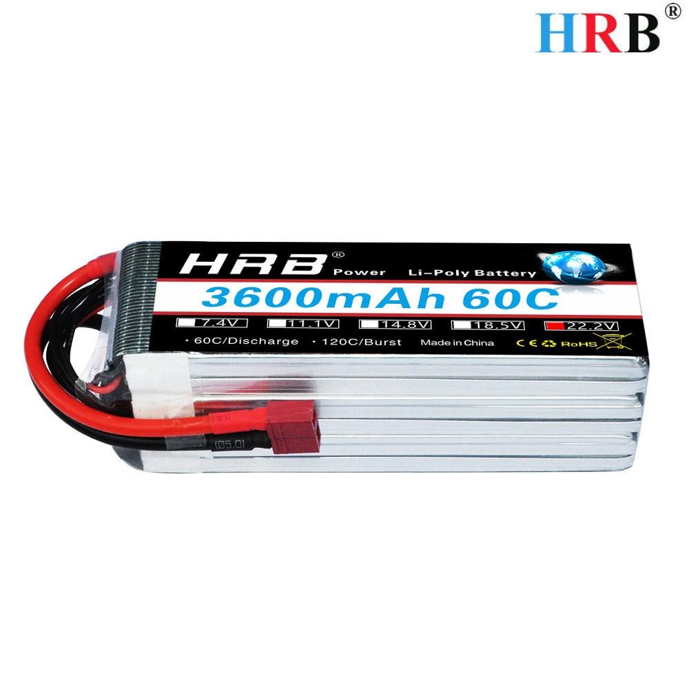 HRB RC AKKU 6S Lipo Battery 22 2V 3600mAh 60C 120C For Align TREX 500 600E